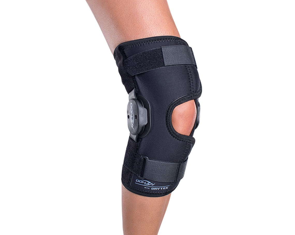 a9963ecbab Details about Donjoy Deluxe Hinge Knee Support Brace Patella Pain Strap OA  Tendon Ligament ACL