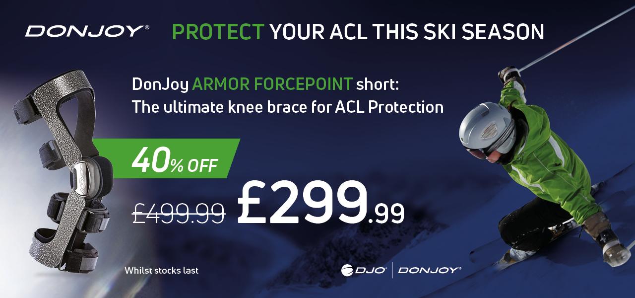 Donjoy Fourcepoint Armor Knee Brace promotion